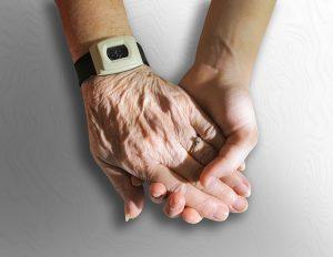 hand holding elder