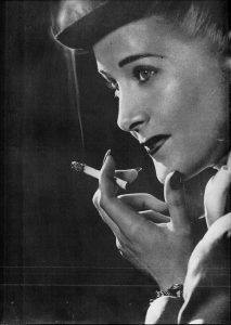 retro image of lady smoking