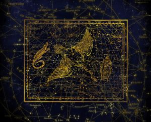 graphic of antique representation of a constellation