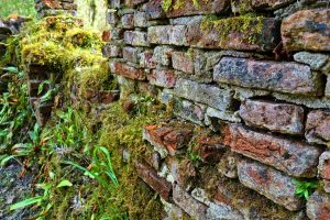 aged stone wall structure
