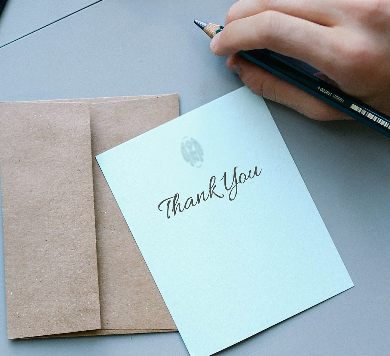 card expressing gratitude